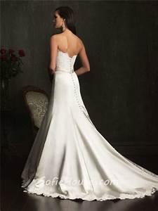 designer mermaid strapless lace satin wedding dress with With designer mermaid wedding dresses