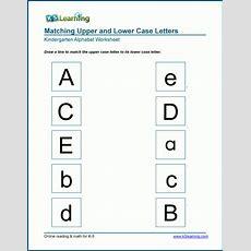 Uppercase And Lowercase Letters Worksheets For Kindergarten  K5 Learning