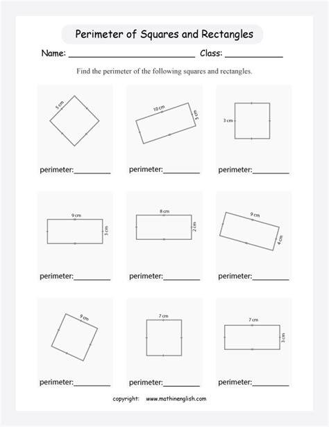 calculate  perimeter   rectangular shapes  cm