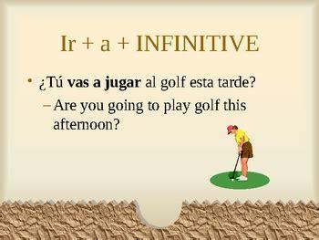 ir  infinitive spanish grammar powerpoint  superspanish