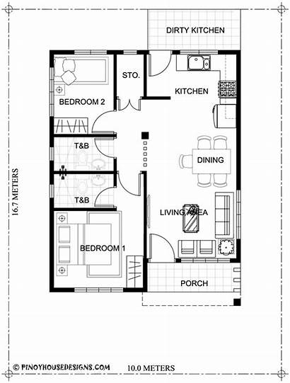 Floor Bedroom Plan Plans Bungalow Sqm Area