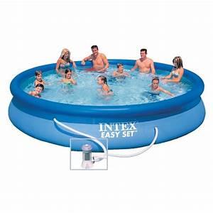 Piscine Gonflable Avec Pompe : piscine autoportante intex easy set 457 x h84 cm ~ Dailycaller-alerts.com Idées de Décoration