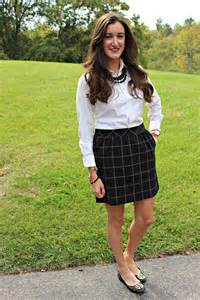 High School Girl Preppy Outfit
