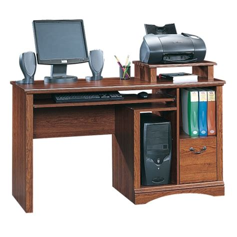 laptop desk with printer shelf sauder studio rta 60061 office line 60 inch computer
