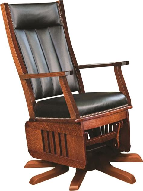 amish leola mission swivel glider rocking chair with