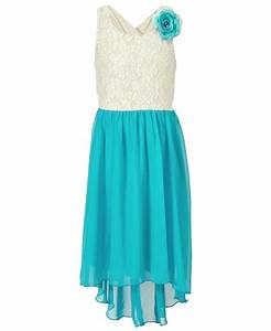 Speechless Girls Dress, Girls Lace-to-Chiffon High-Low ...