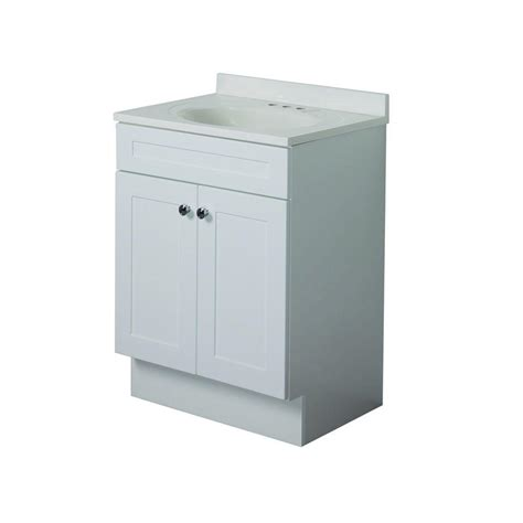 glacier bay country 24 in vanity in white with ab