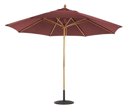 11 wooden patio umbrella with pulleys