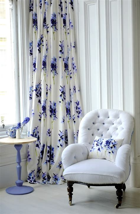 blue and white floor l white and blue floral curtains home design ideas