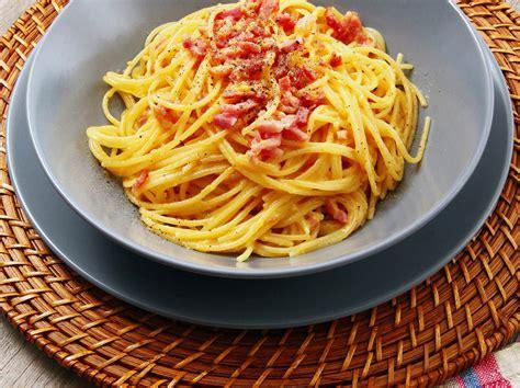 cuisine greque spaghetti à la carbonara la vrai recette pour vous