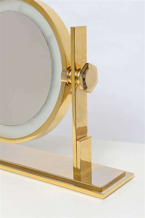 table top mirror with lights karl springer lighted table top vanity mirror at 1stdibs