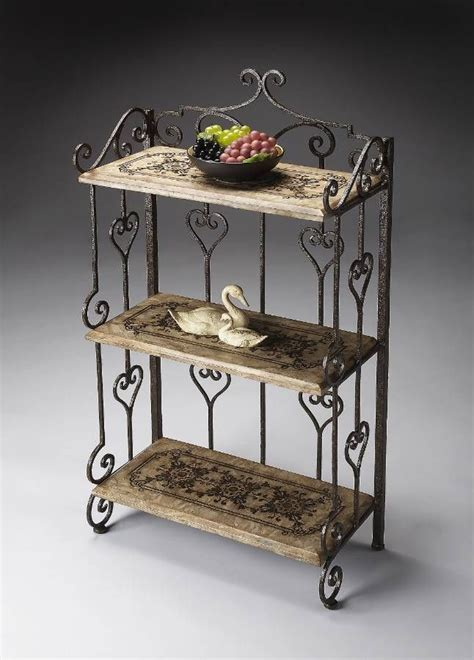 Wrought Iron Etagere Shelves by Butler Tuscan Wrought Iron 3 Shelf Display Etagere