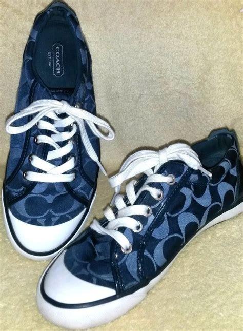 womens coach fashion sneakers navy blue  coach