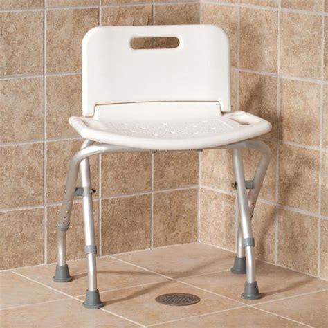 Folding Bath Seat with Back   Tub Bench   Bath Chair