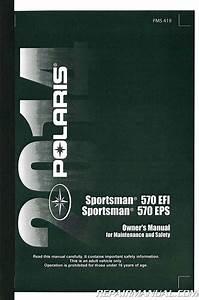 2014 Polaris Sportsman 570 Efi Eps Atv Owners Manual