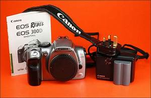 Canon Digital 300d Dslr Camera Sold With Charger  U0026 Battery
