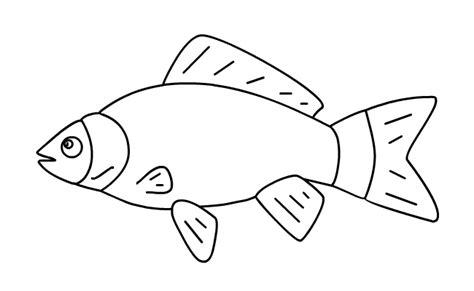 Kleurplaat Vis Simpel by Kinderwoorddienst Broden En Vissen