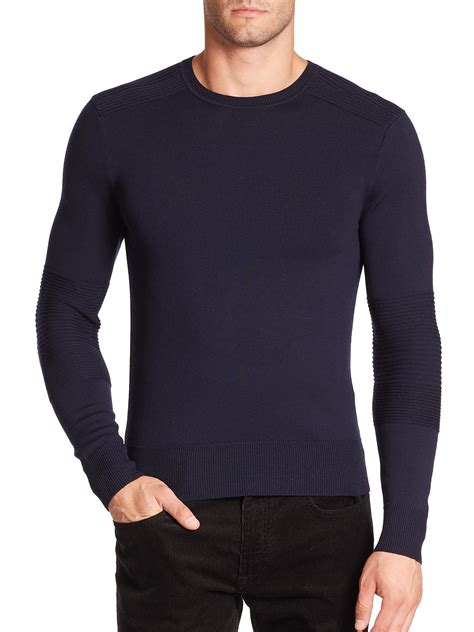 ralph polo sweaters polo ralph merino crewneck sweater in blue for