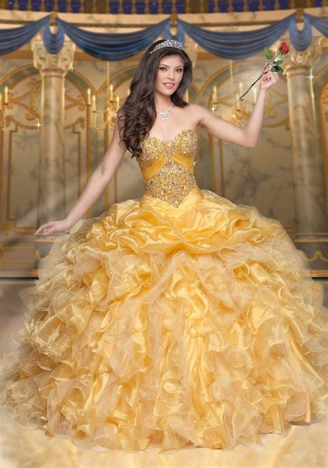 Disney Royal Ball Quinceanera Dress Belle Style 41096 ? ABC Fashion