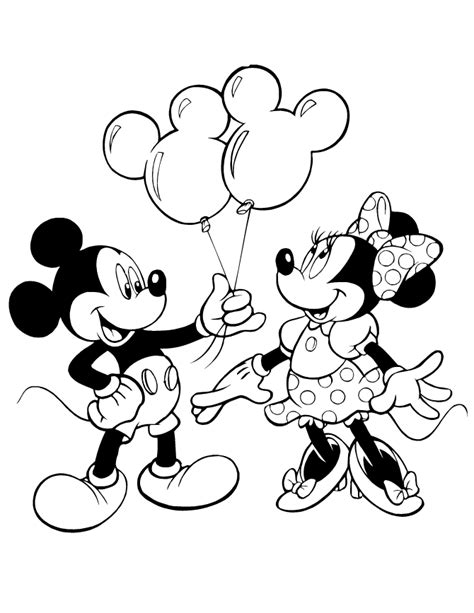minnie  mickey mouse coloring pages coloring home