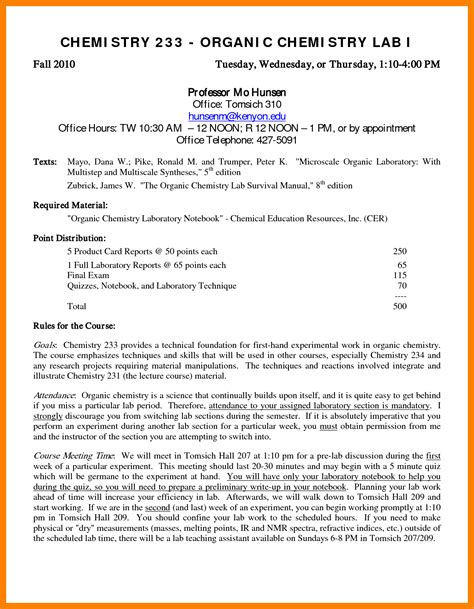 chemistry lab report template 11 lab report exle chemistry edu techation