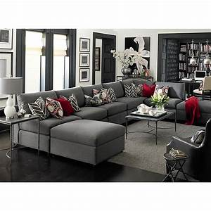 Beckham u shaped sectional i really like the charcol of for Mason grey sectional sofa