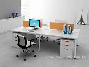 Computer Arbeitsplatz Möbel : moderner b ro m bel linearer form 4 seater arbeitsplatz tisch mit bildschirm teiler hf yzl005c ~ Indierocktalk.com Haus und Dekorationen