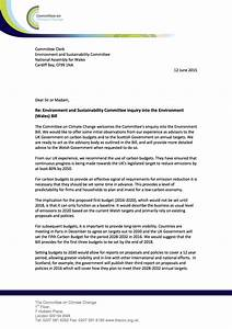 Letter, Environment, And, Sustainability, Committee, Inquiry, Into, The, Environment, Wales, Bill