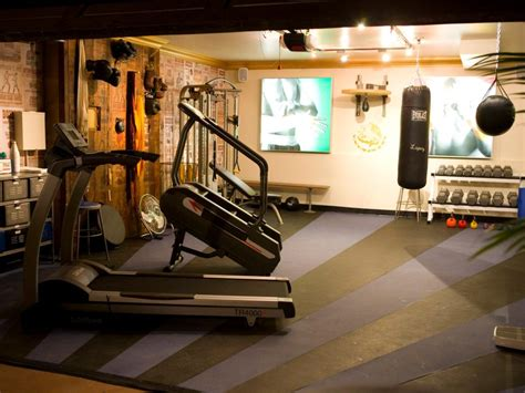 Garage Workout Room Ideas manly home gyms hgtv