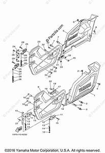 Yamaha Side By Side 2015 Oem Parts Diagram For Side Cover