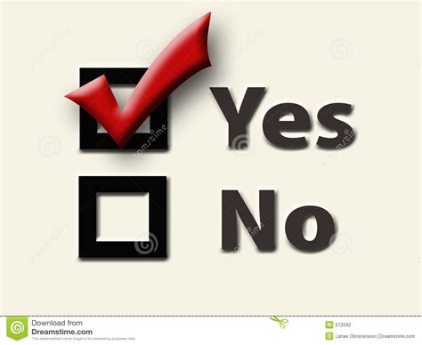 Check Yes Stock Photo. Image Of Referendum, Proposition