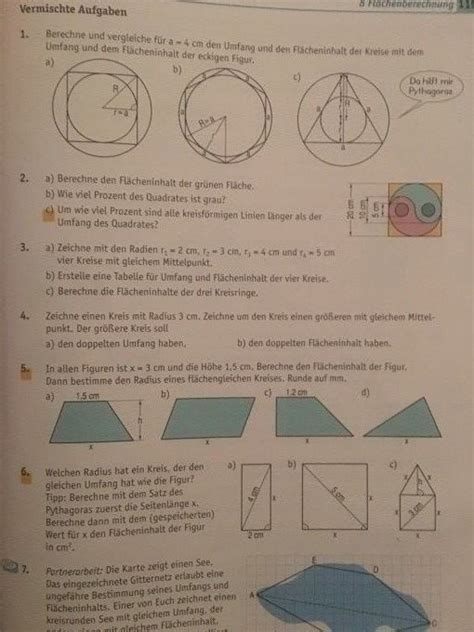 flaecheninhalt berechnen kreis und dreieck aufgabe