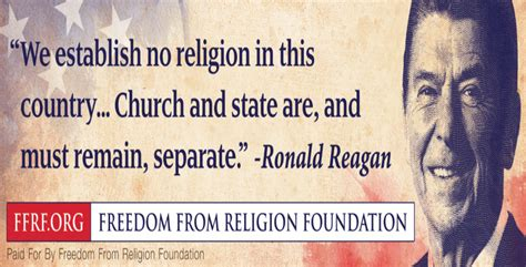 ronald reagan promotes church state separation  gop