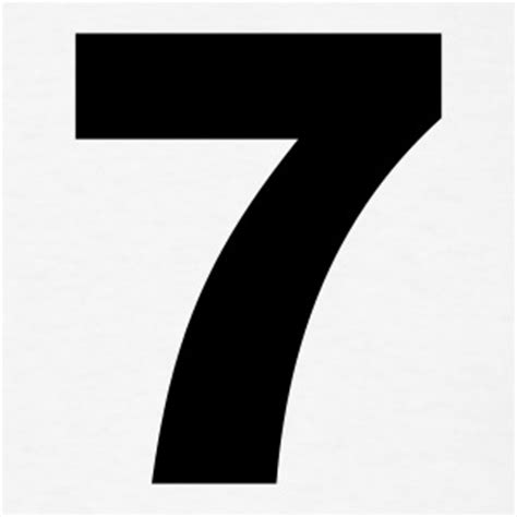 Number 7 Tshirts Spreadshirt