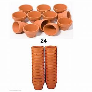 Pot De Fleur En Terre Cuite : 24 mini pots de fleurs en terre cuite 4 5 cm x 4 cm loisir ~ Premium-room.com Idées de Décoration