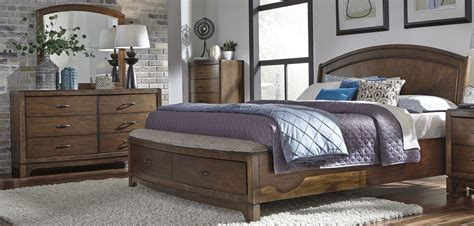 Avalon Bedroom Set by Liberty Avalon Iii Pebble Brown Panel Storage Bedroom Set