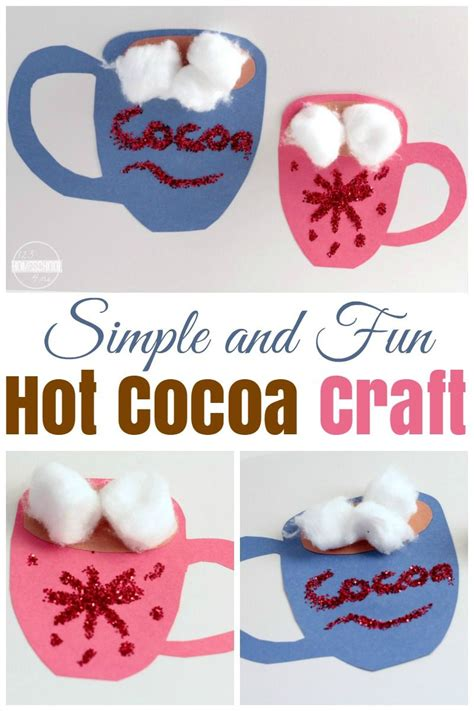 simple hot cocoa craft  kids winter crafts