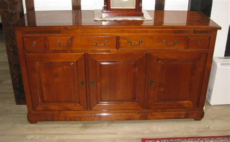 Sideboard Desk by Quality Reproduction Solid Cherry Wood Sideboard