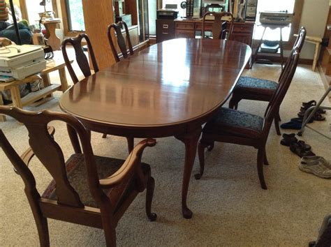 Colonial Dining Room Furniture kling colonial dining room set w 6 chairs antique