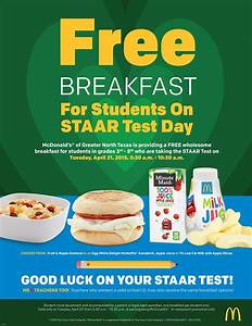 McDonald's offers free breakfast to students taking the ...