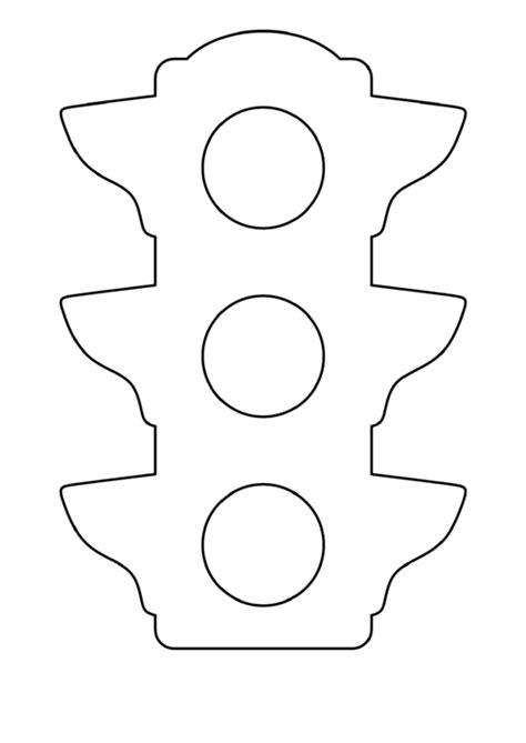 blank traffic light template printable