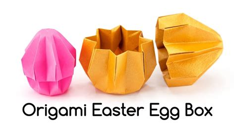 Please note, the 3d model is intentionally. Origami Easter Egg Box Tutorial - Paper Kawaii #origami # ...