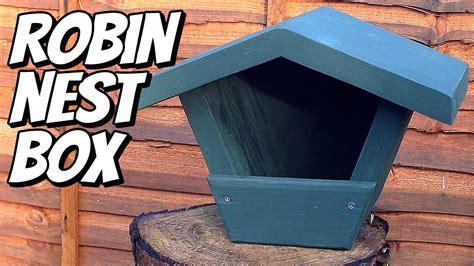 making  robin nest box  scraps   mother  law eeek youtube