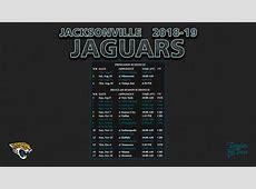 20182019 Jacksonville Jaguars Wallpaper Schedule