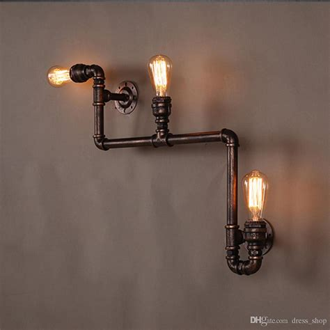 2019 110v 220v loft industrial wall ls antique edison wall lights with bulbs e27 vintage pipe