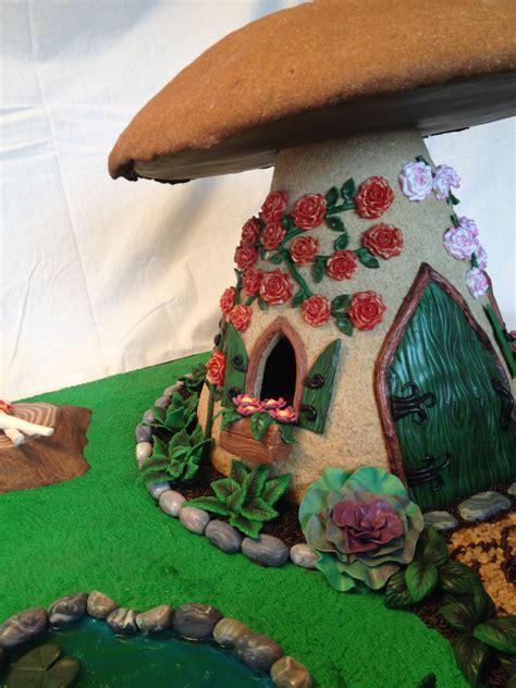 gingerbread mushroom fairy house cakecentralcom