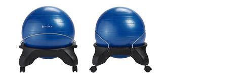 Gaiam Backless Classic Balance Chair by Gaiam Backless Balance Chair Blue