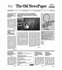 Sample Old Newspaper Template - 11+ Documents in PDF , PSD ...