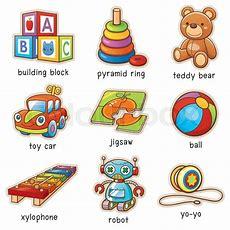 Vector Illustration Of Cartoon Toys Vocabulary  Stock Vector Colourbox