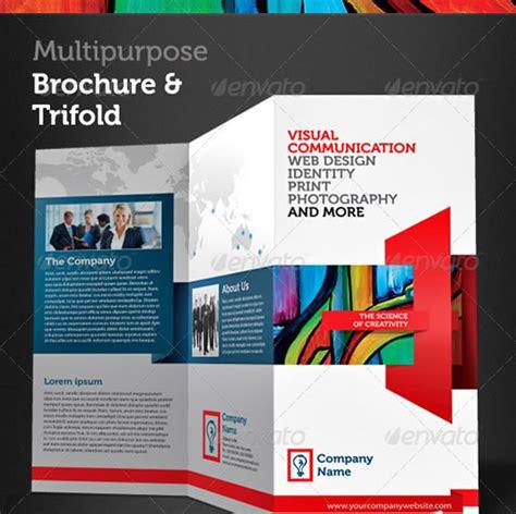 creative tri fold brochure design templates entheosweb